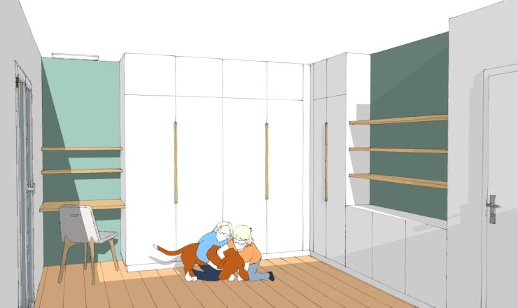 3D image virtuelle chambre 2